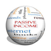 Passive Income 3D sphere Word Cloud Concept — Stock Photo