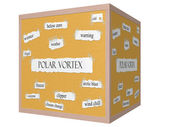 Polar Vortex 3D cube Corkboard Word Concept — Stock Photo