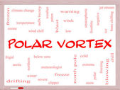 Polar Vortex Word Cloud Concept on a Whiteboard — Stock Photo