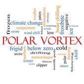 Conceito de nuvem de palavra vórtice polar — Foto Stock