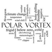 Polar Vortex Word Cloud Concept in black and white — Stock fotografie