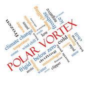 Polar girdap kelime bulutu kavramı açılı — Stok fotoğraf