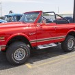 Stock Photo: Red Chevy K5 Blazer