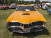 1970 Orange Mercury Cyclone Spoiler Front View — Stock Photo