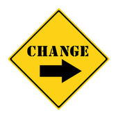 Change Road Sign — Stock Photo