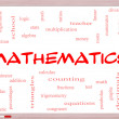 Foto de Stock  : Mathematics Word Cloud Concept on Whiteboard