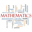 Foto Stock: Mathematics Word Cloud Concept