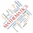 Mathematics Word Cloud Concept Angled — Stok Fotoğraf #39817867