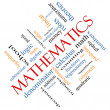Foto Stock: Mathematics Word Cloud Concept Angled