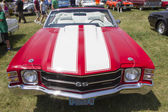 1971 Red with white stripes Chevy Chevelle SS Front View — Stock Photo