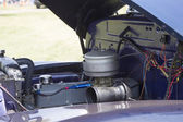 Blue Chevy 3800 Truck engine — Stock Photo