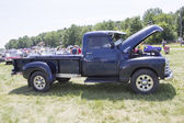 Blue Chevy 3800 Truck Side View — Stock fotografie