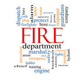 Fire Department Word Cloud Concept — Stock Photo