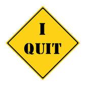 I Quit Road Sign — Foto de Stock