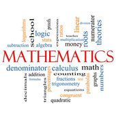 Mathematics Word Cloud Concept — Stock Photo