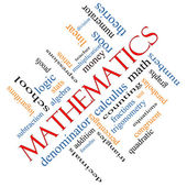 Mathematics Word Cloud Concept Angled — Stockfoto