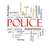 Police Word Cloud Concept — Stock Photo