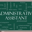 Foto Stock: Administrative Assistant Word Cloud Concept on Blackboard