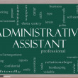 Administrative Assistant Word Cloud Concept on Blackboard — Photo #39883005