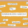 Administrative Assistant Corkboard Word Concept — Foto Stock #39883087