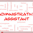 Foto Stock: Administrative Assistant Word Cloud Concept on Whiteboard