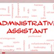 Administrative Assistant Word Cloud Concept on Whiteboard — Foto de stock #39883133