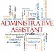 Administrative Assistant Word Cloud Concept — Stok Fotoğraf #39883141