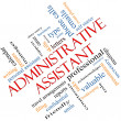 图库照片: Administrative Assistant Word Cloud Concept Angled