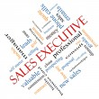 Foto Stock: Sales Executive Word Cloud Concept Angled