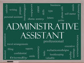 Administrative Assistant Word Cloud Concept on a Blackboard — Foto de Stock
