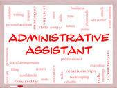 Administrative Assistant Word Cloud Concept on a Whiteboard — Stock Photo