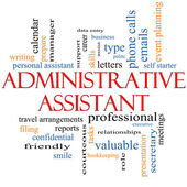 Administrative Assistant Word Cloud Concept — Stok fotoğraf