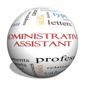 Administrative Assistant 3D sphere Word Cloud Concept — Stock Photo