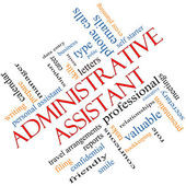 Administrative Assistant Word Cloud Concept Angled — Stockfoto