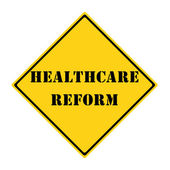 Healthcare Reform Sign — 图库照片