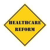 Healthcare Reform Sign — Stock Photo
