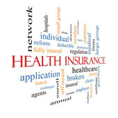 Health Insurance Word Cloud Concept Fading — Stock Photo