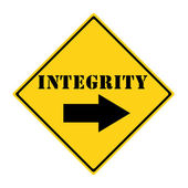 INTEGRITY Sign — Foto de Stock