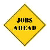 Jobs Ahead Sign — Stock Photo