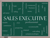 Sales Executive Word Cloud Concept on a Blackboard — Stock Photo