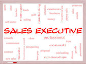 Sales Executive Word Cloud Concept on a Whiteboard — Стоковое фото