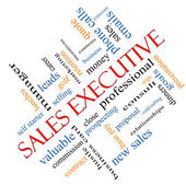 Sales Executive Word Cloud Concept Angled — Zdjęcie stockowe