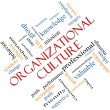 Stock Photo: Organizational Culture Word Cloud Concept Angled