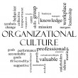 Stock Photo: Organizational Culture Word Cloud Concept in black and white