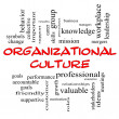 Stock Photo: Organizational Culture Word Cloud Concept in red caps