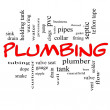 Plumbing Word Cloud Concept in red caps — Stock Photo #39946823