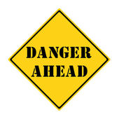 Danger Ahead Sign — Stock Photo