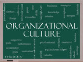 Organizational Culture Word Cloud Concept on a Blackboard — Stock Photo