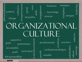 Organizational Culture Word Cloud Concept on a Blackboard — Stock Photo