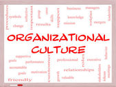 Organizational Culture Word Cloud Concept on a Whiteboard — Stock Photo